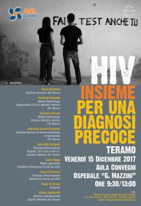 Locandina incontro di Teramo del 15 dicembre 2017